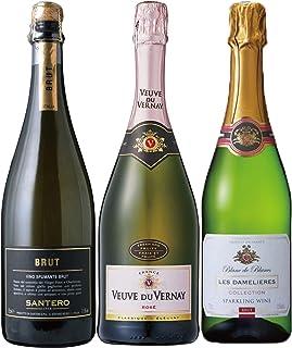 金賞ワイン入り 世界の辛口 スパークリングワイン 飲み比べ 3本セット 750ml×3本