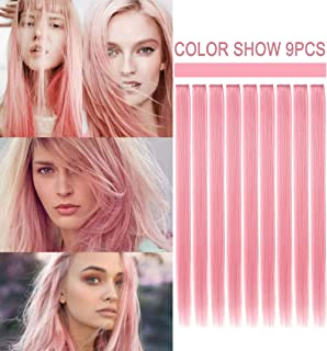 ECOCHARMS Princess Party Highlights Clip in Colored Hair Extensions Costumes Wig for American Girls/Dolls