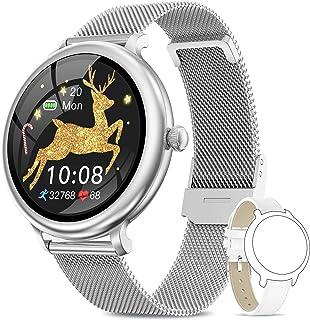 NAIXUES Smartwatch Mujer, Reloj Inteligente Impermeable IP68, Pulsera de Actividad Inteligente con Monitor de Sueño Pulsóm...