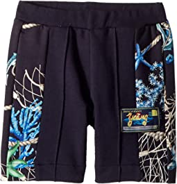 Versace Kids - Shorts w/ Sea Shore Design on Sides (Toddler/Little Kids)