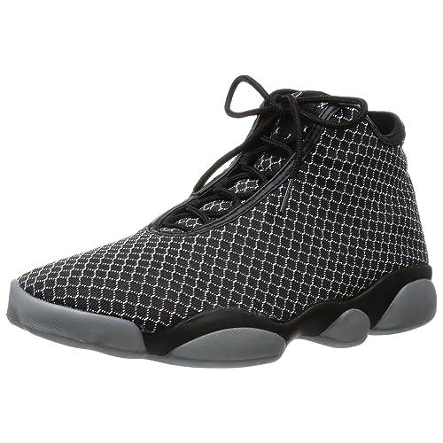 5e15fd5cf960 Nike Jordan Mens Jordan Horizon Black White Basketball Shoe 10.5 Men US