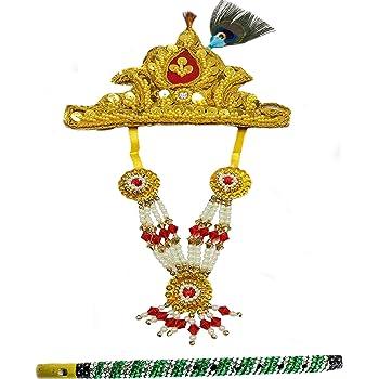 The Holy Mart Krishna Mukut Bansuri Mala Janamastmi Set (Multi)