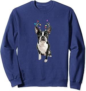 Boston Terrier Reindeer Christmas Dog Sweatshirt Sweatshirt