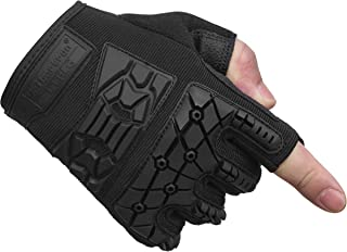 Seibertron T.T.F.I.G 2.0 Men's Tactical Military Gloves Flexible Rubber Knuckle Protective for Combat Hunting Hiking Airsoft Paintball Motorcycle Motorbike Riding Outdoor Gloves