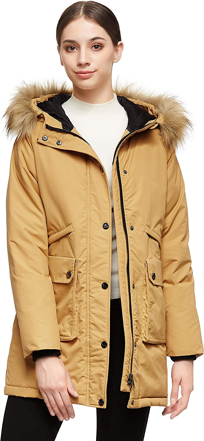 Orolay Women's Down Jacket Max Genuine 44% OFF Winter Coat Fur Parka Hood with Warm