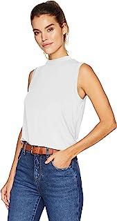 Daily Ritual Amazon Brand Women's Jersey Sleeveless Boxy Mock-Neck Shirt
