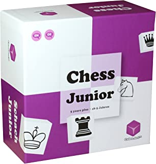 Chess Junior - Awarded Chess Set for Kids, Board Game for Teaching Chess to Kids in a Fun and Lead Back Way, Purple