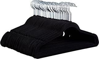 Zober Non-Slip Velvet Hangers - Suit Hangers (50-pack) Ultra Thin Space Saving 360 Degree Swivel Hook Strong and Durable Clothes Hangers Hold Up-To 10 Lbs, for Coats, Jackets, Pants, & Dress Clothes