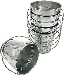 Italia 6-Pack Metal Bucket 1.5 Quart Color Galvanize Size 5.6 x 6