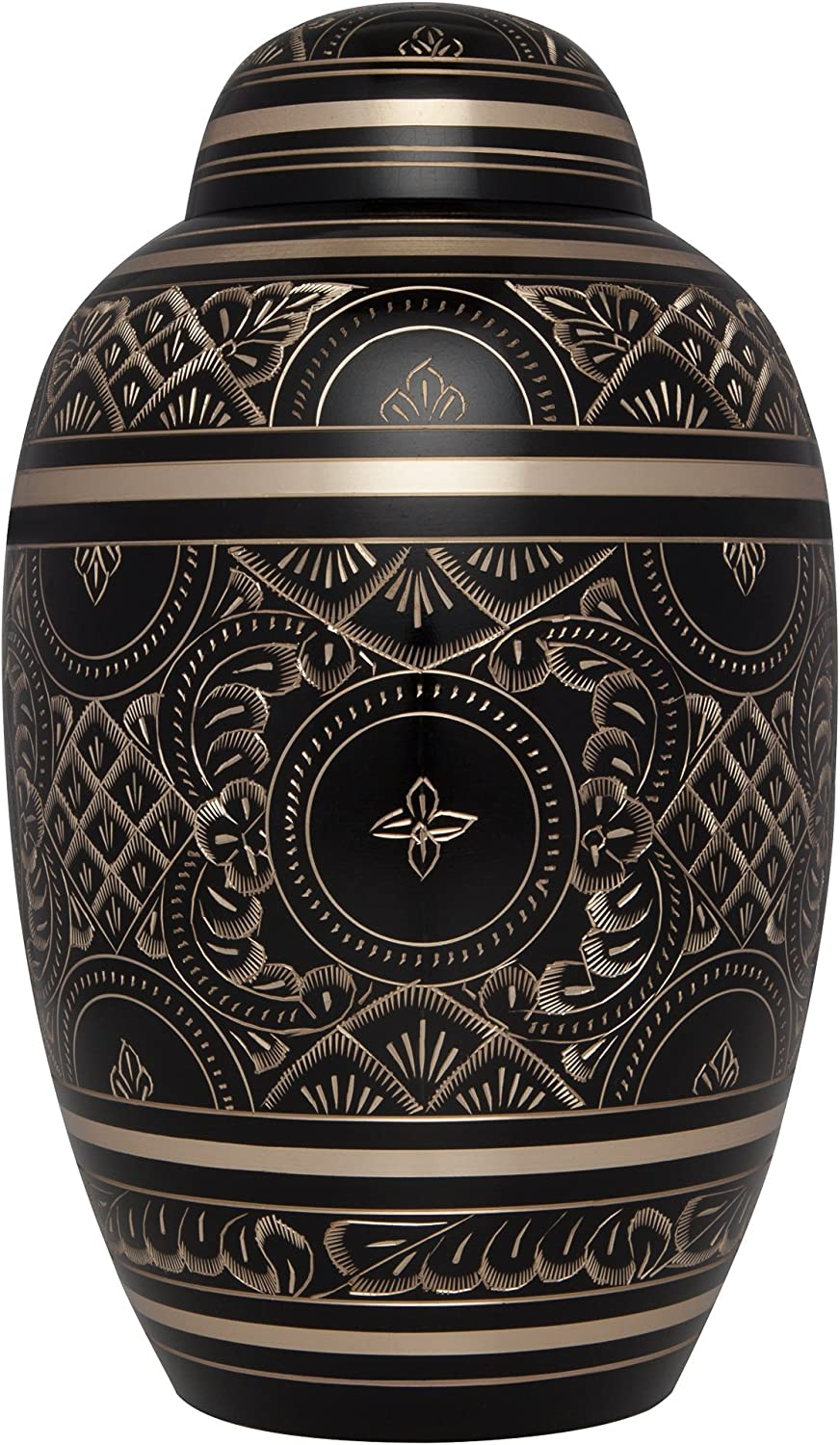 Black Cremation Max 45% OFF Urn for Human Ashes M Max 86% OFF Hand Engraving Gold - with