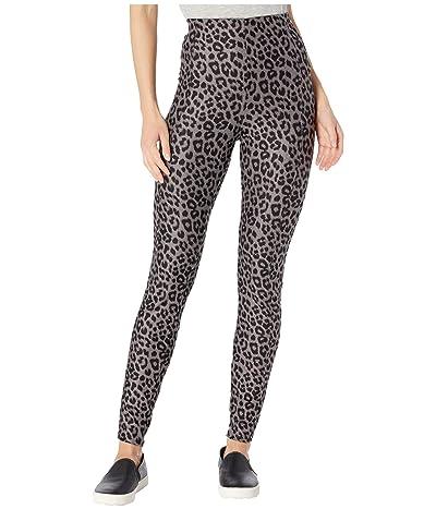KENDALL + KYLIE Soft Leopard Leggings (Grey) Women