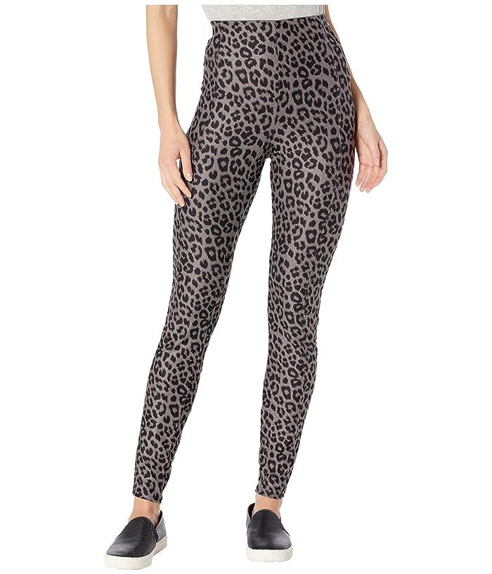 KENDALL + KYLIE  Soft Leopard Leggings (Grey) Womens Casual Pants