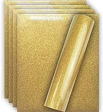 Tvinyl Warehouse Old Gold Glitter HTV Heat Transfer Vinyl for T-Shirt 12