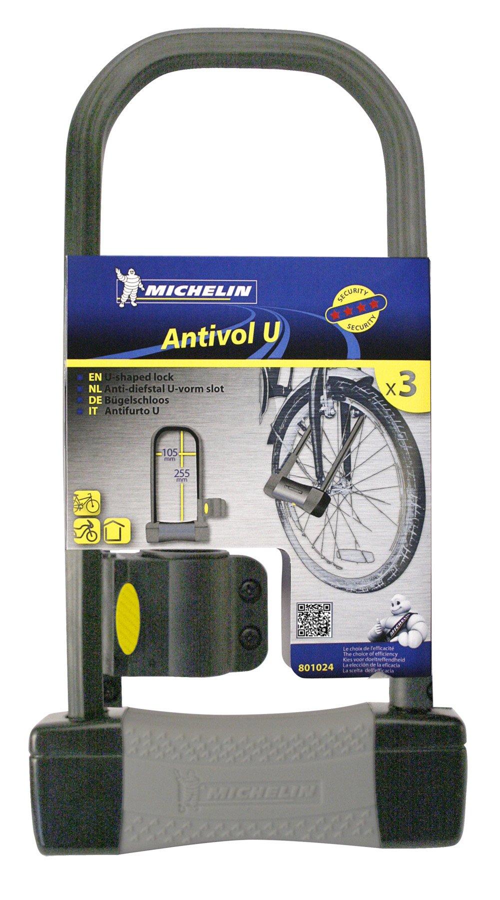 Michelin - Candado antirrobo con Forma de U para Bicicleta (165 x ...