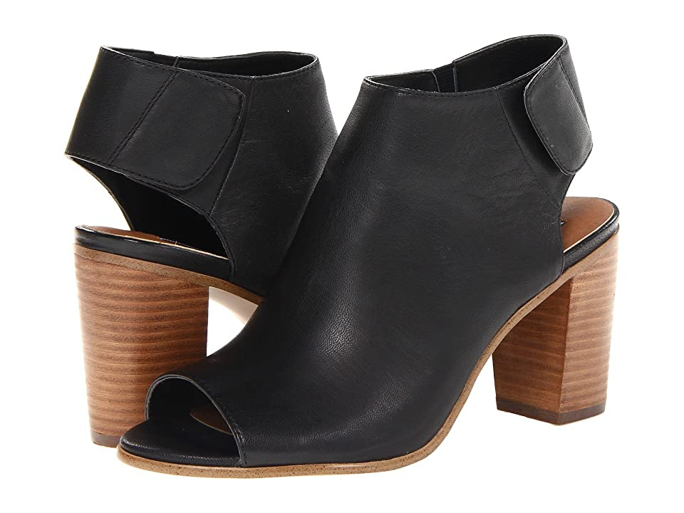 Steve Madden Nonstp Heel (Black Leather) Women