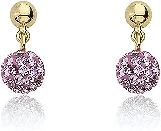 Molly Glitz Glitz Blitz 14k Gold-Plated Gray Aqua Crystal Ball Dangle Earring