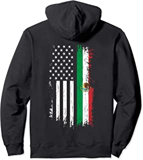 Mexico USA Grown Roots - Mexican American Flag Pullover Hoodie