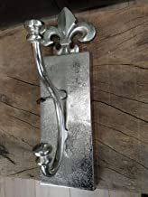 takestop Set 15/St/ück Haken Kleiderhaken aus Silber 44/mm Hake f/ür Rahmen Karo Form Florentiner Lilie Eisen mit Nagel N/ägel