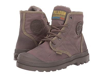 Palladium Pampa Hi Tex WL Waterproof (Toddler/Little Kid) (Dusky Green/Major Brown) Shoes