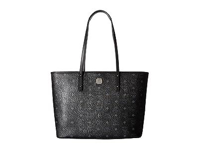 MCM Anya Shopper Top Zip Medium Shopper (Black) Tote Handbags