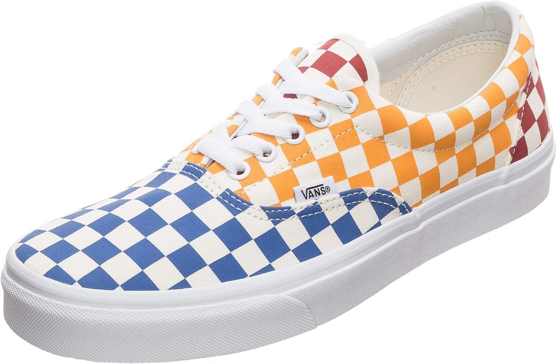 Vans - Era Checkerboard - VN0A38FRVLV - Couleur: Blanc-Rouge-Bleu ...
