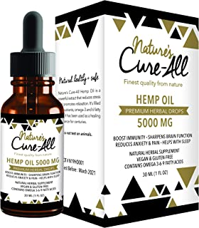 (1-Pack) Premium and Powerful Hemp Extract 5000mg | Natural & Herbal Hemp Drops | Made with Organic Whole Plant | Soothing Mint Flavor | Helps with Sleep, Stress, Anxiety, Inflammation & Skin Health