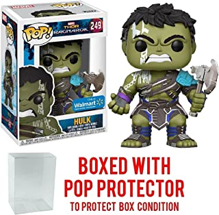 Funko Pop! Marvel: Thor Ragnarok - Hulk Gladiator Suit No Helmet #249 (Walmart Exclusive) Vinyl Figure (Bundled with Pop BOX PROTECTOR CASE)