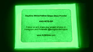 Glow in The Dark Pigment Powder - 240g (8 Ounces) - Neutral and Fluorescent Colors (Neutral Green)