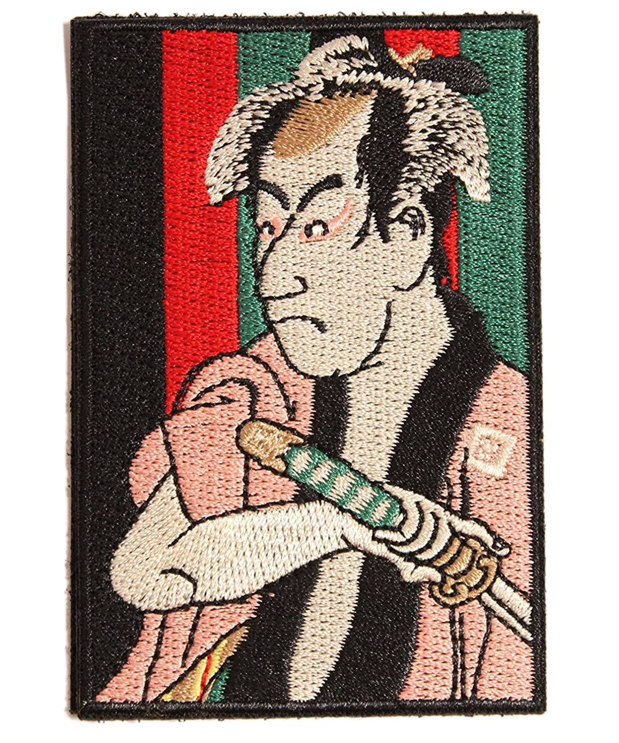 [Japan Import] 100% Embroidery Verclo Patches Ukiyo-e Sharaku Toshusai Kabuki A0199