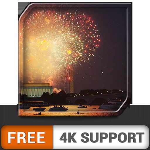 Fuegos artificiales HD junto al agua gratis, decora tus celebraciones con una hermosa iluminación en tu televisor HDR 8k 4k y dispositivos de fuego como fondo de pantalla y tema para mediación y paz