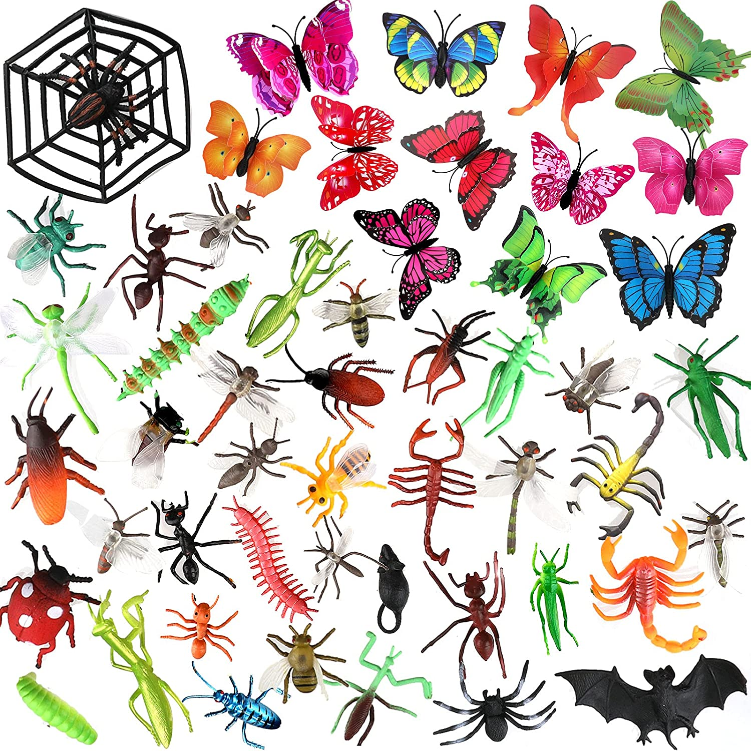 Directly managed store OOTSR 51Pcs Plastic Insects Toys Bugs High quality and Realistic