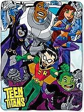 The Northwest Company Teen Titans Let's Go!! Robin Cyborg Beast Boy Starfire Raven Plush Throw Blanket 46