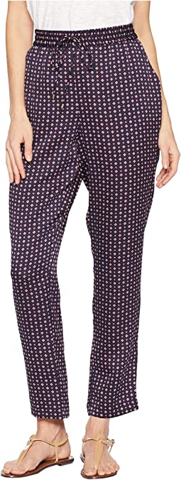 Daisy Foulard Drawstring Soft Pants