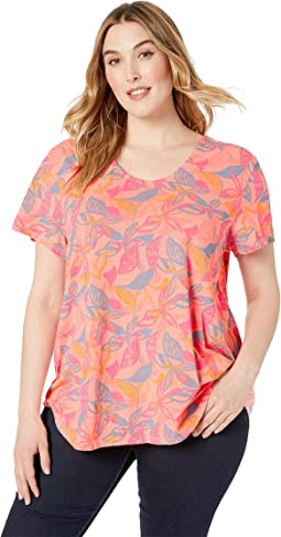 Plus Size Beachside Blooms Mika Tee