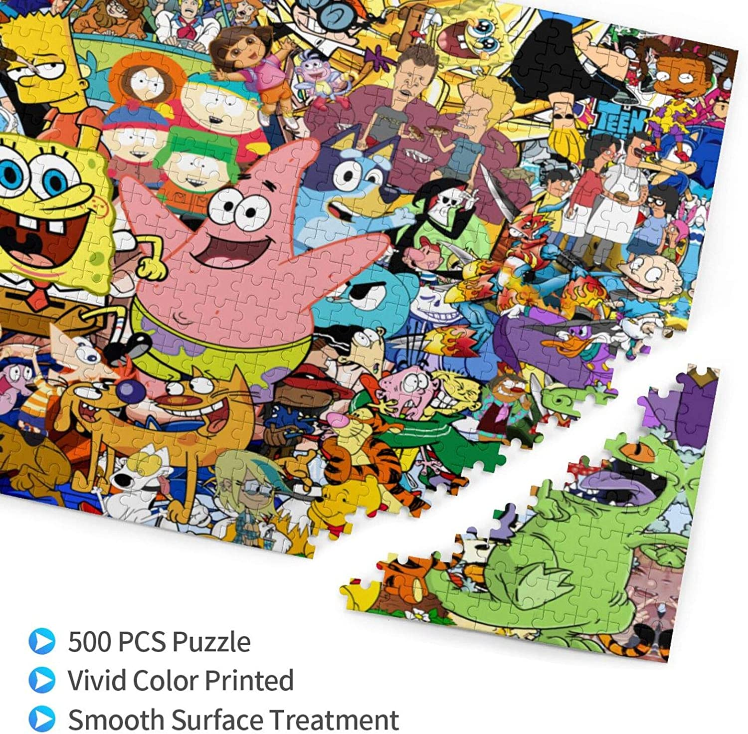 Robprint Plants Vs Zombies Puzzle 500 Pieces for Teenagers Wooden Jigsaw Puzzles Kids Game Toy Gift Decompression Toys