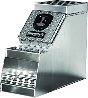 Buyers Products Heavy Duty Diamond Tread Aluminum Step Box (24x28x18 Inch)