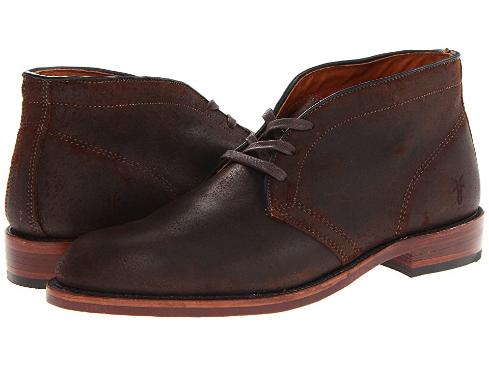 Frye Walter Chukka (Dark Brown Waxed Suede) Men's Lace up casual Shoes