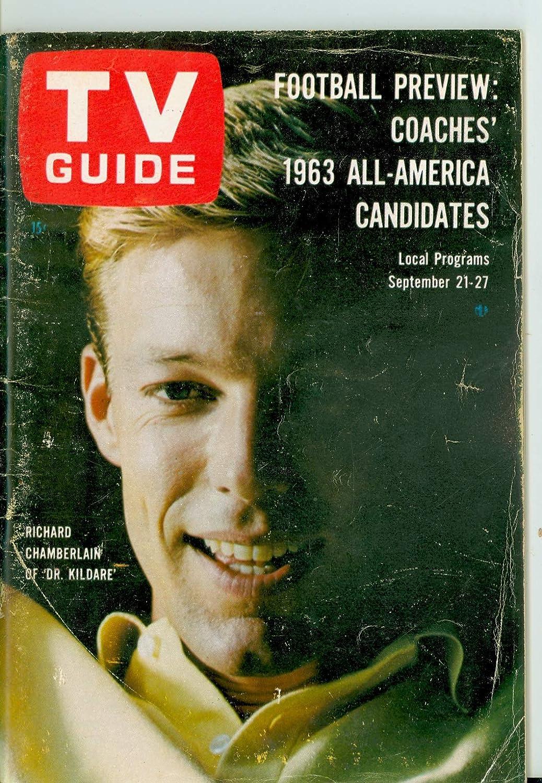 1963 Japan Maker New TV Guide Sep Direct store 21 Richard - Utah-I of Kildare Dr. Chamberlain