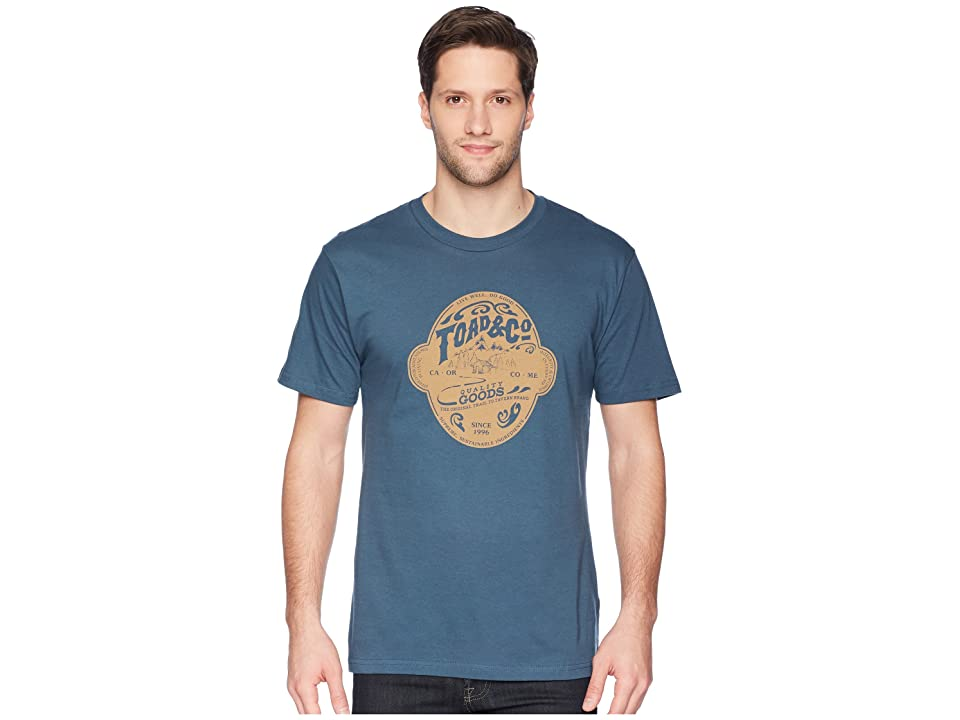 Toad&Co Brewed For Adventure Short Sleeve Tee (Moody Blue) Men