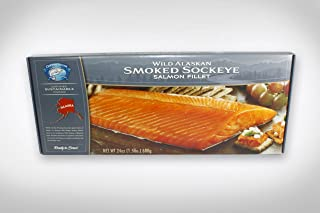 4-24 oz.Smoked Wild Alaska Sockeye Salmon Fillets