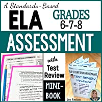 ELA Assessment - Exam with Test Review MINI-BOOK - Standards-Aligned