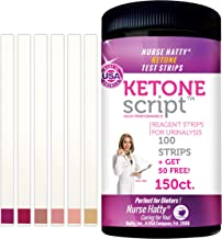 Nurse Hatty - 150 High Performance Keto Strips - Fresh Batches Restocked Weekly - Made in USA - Ketone Test Strips Perfect for Ketogenic, Low Carb, Atkins & Paleo Diets + Free eBook - 100ct + 50 Free
