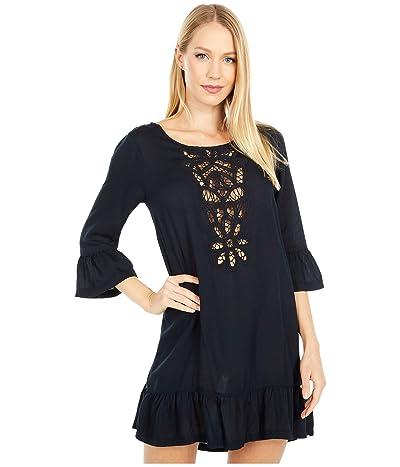 Roxy Goldy Soul Long Sleeve Dress Cover-Up (True Black) Women