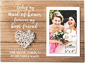 VILIGHT Maid of Honor Gifts - Rustic Bridesmaid Picture Frame - 4x6 Inches Photo