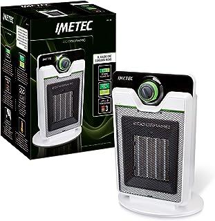 Imetec Eco Ceramic CFH1-100 - Calefactor con Tecnologia Eco Ceramica para un Bajo Consumo, Compacto, 3 Niveles de Temperatura, Termostato Ambiente, Función Antihielo, 2000 W