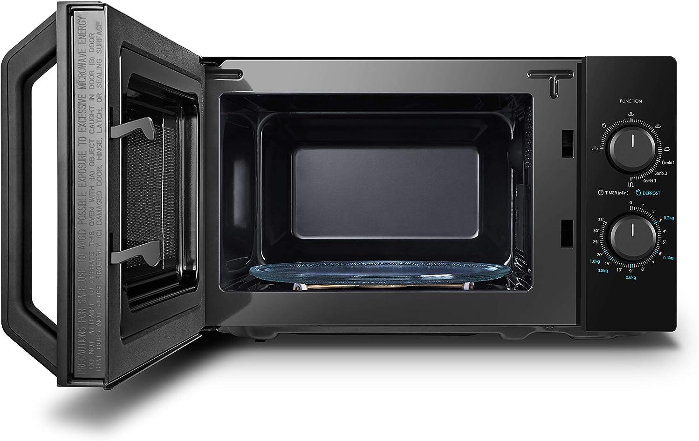 Toshiba MW2-MG20PF Four Micro-ondes Combiné, 20 L, 5 niveaux de puissance réglables, lumières LED intégrées, 800 W, Grill 1000 W, 44 x 33,4 x 25,9 cm, noir Noir