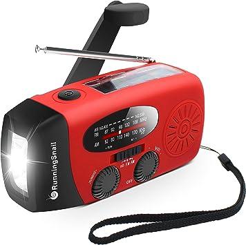 RunningSnail Emergency Hand Crank Self Powered AM/FM NOAA Solar Weather Radio