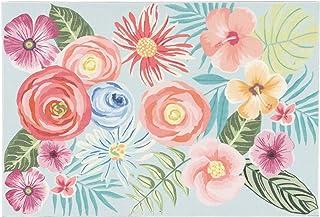 """Liora Manne ILU12329404 Illusions Flower Garden Indoor Outdoor Washable Area Rug, 1'7.5"""" x 2'5.5"""""""