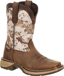 Durango Lil' Rebel Big Kids Desert Camo Western Boot
