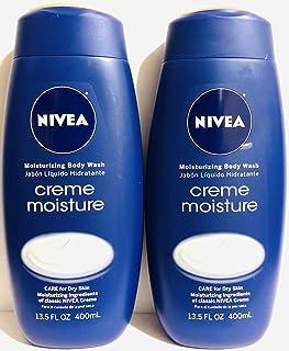 Nivea Moisturizing Body Wash - Creme Moisture - Net Wt. 13.5 FL OZ (400 mL) Per Bottle - Pack of 2 Bottles